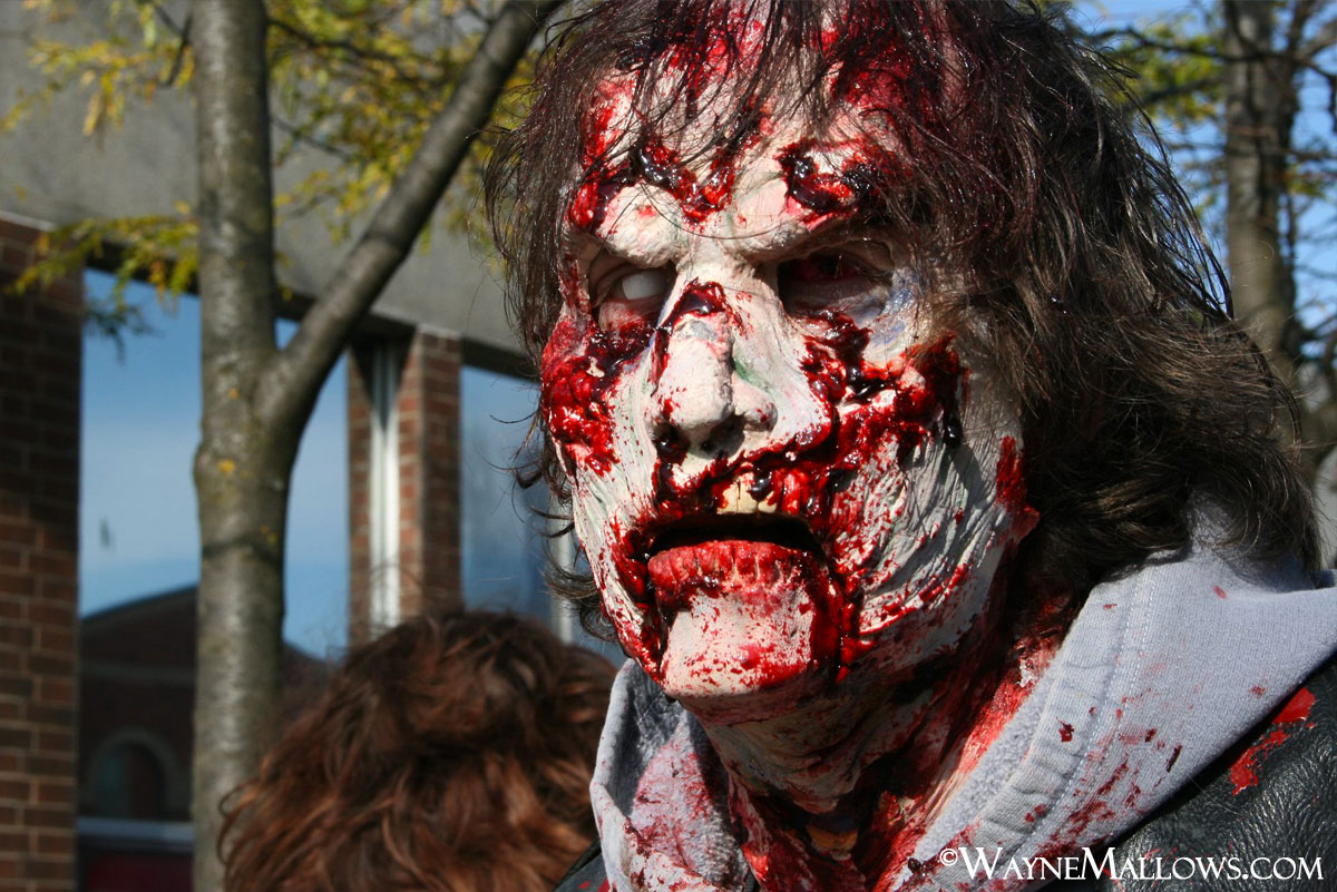2012 Zombie walk in Owen Sound, Ontario to raise food and funds for the local Food Bank. 1st place and had a blast freaking folks around town out too!