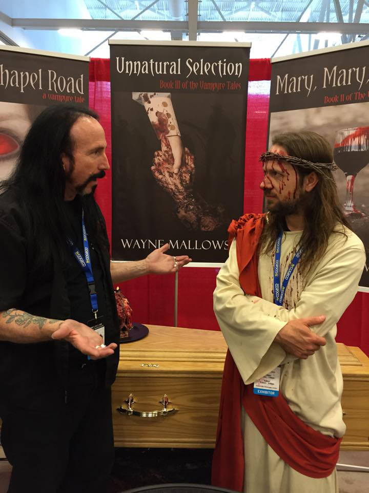 Niagara Falls Comic Con 2015 Wayne talking to Jesus about Book 4 Dark Origins